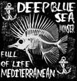 animal sea tee graphic vector image