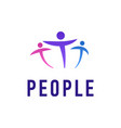 people logo template creative vector image