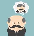Dreams of bald men vector image