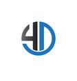 4 d logo designs vector image