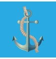 Anchor with Rope Isolated vector image vector image