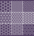 arabic seamless patterns set from simple geometric vector image vector image