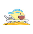 beach chair summer holiday vacation vector image vector image