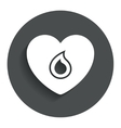 Blood donation sign icon Medical donation vector image