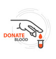 blood donor - drop donate blood from finger vector image vector image