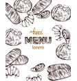 bread lineart vintage homemade bakery menu decors