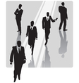 Businessman with security team vector image