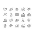 capital markets line icons signs set vector image vector image