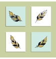 Card Feather Set vector image