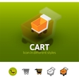 Cart icon in different style vector image vector image