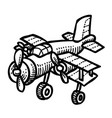 cartoon image of plane vector image