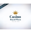 Casino logo icon Poker cards or game and vector image vector image