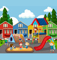 children in colorful playground vector image vector image