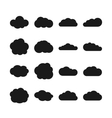Cloud black icons vector image vector image