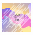 colorful background with typography design vector image