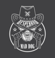 Cowboy emblem vector image vector image