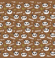 Cute panda bear seamless pattern cute animals