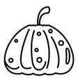 dark pumpkin icon outline style vector image vector image