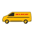 Delivery car in flat design vector image vector image