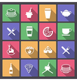 drink and food icons in flat design vector image vector image