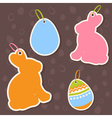 Easter bunny and eggs discount sale stickers vector image vector image