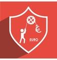 euro icon design vector image vector image