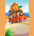 family traveling on a road trip vector image vector image