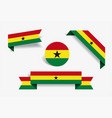 ghanayan flag stickers and labels vector image
