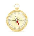 golden cnavigation compass vector image vector image