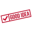 Good idea stamp vector image vector image