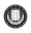 grayscale beer related emblem icon image vector image vector image