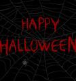 Halloween with spider web in the dark vector image vector image