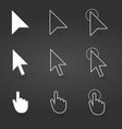 hand and arrow cursor icon computer icons vector image vector image