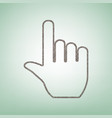 hand sign brown flax icon on vector image vector image