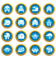 helmet icons set simple style vector image vector image