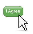 I Agree Button Click vector image vector image