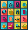 icons set of Fashion elements man clothing vector image vector image