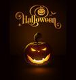 jack-o-lantern dark evil smile vector image
