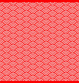 japanese red scales seamless pattern vector image