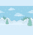 landscape winter forest seamless vector image vector image