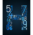 Letter H font from numbers vector image vector image