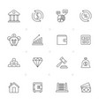 line bank financial and investment icons vector image vector image