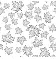 maple leaf contour seamless pattern vector image vector image