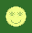 marijuana smiley face cannabis smile smiling vector image