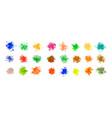mega set watercolor splatters in many colors vector image vector image