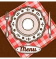 Menu With Porcelain Plate vector image