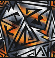 metal geometric pattern vector image