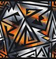 metal geometric pattern vector image vector image