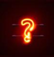 neon font letter question sign vector image