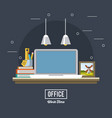 office workplace concept vector image